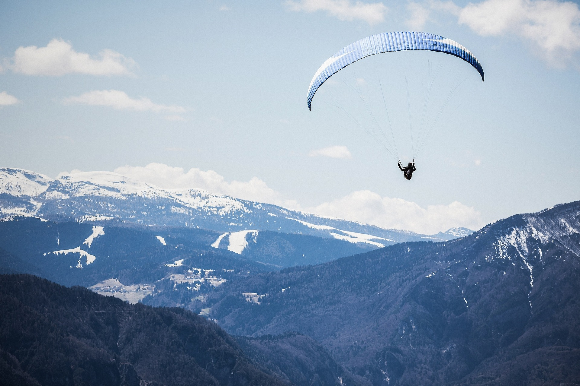 Paragliding Touching Cloud Base
